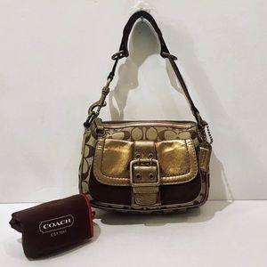 🤩Coach 1495 Bronze Canvas Hobo Bag